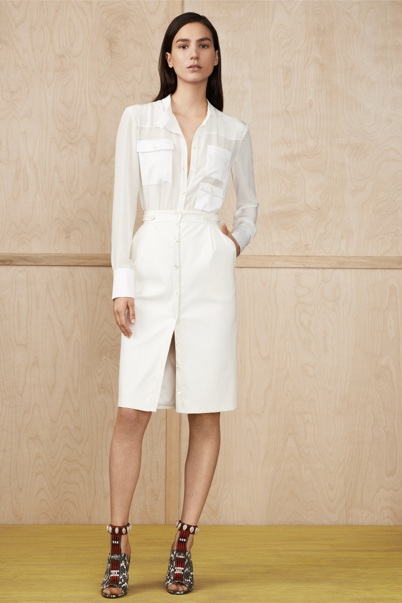 tenue jupe crayon agrandir tendance mode t jupe droite longue tweed erdem pour une tenue de. Black Bedroom Furniture Sets. Home Design Ideas