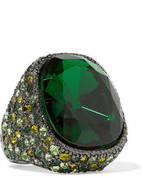 Bague verte Kenneth Jay Lane