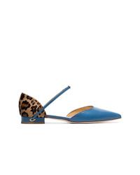 Ballerines en cuir bleues Jennifer Chamandi