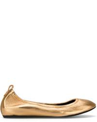 Ballerines en cuir dorées Lanvin