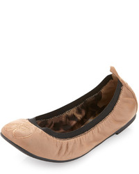 Ballerines en cuir marron clair