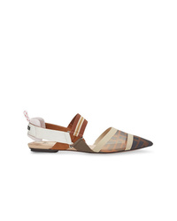 Ballerines en cuir multicolores Fendi