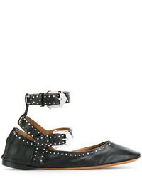 Ballerines en cuir noires Givenchy