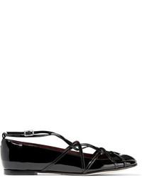 Ballerines en cuir noires Marc Jacobs