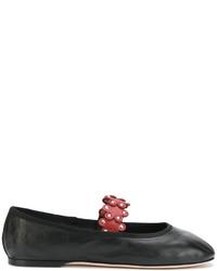 Ballerines en cuir noires RED Valentino