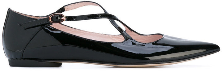 Ballerines en cuir noires Repetto