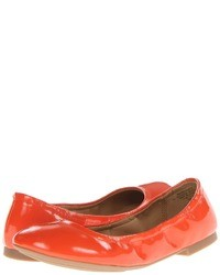 Ballerines en cuir orange