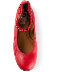 Ballerines en cuir rouges