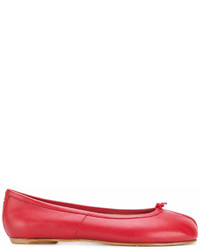 Ballerines en cuir rouges Maison Margiela
