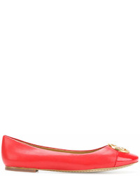 Ballerines en cuir rouges Tory Burch