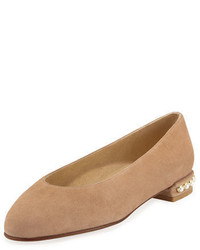 Ballerines en daim marron clair