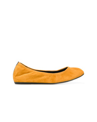 Ballerines en daim orange Lanvin