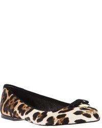 Ballerines imprimées léopard brunes claires