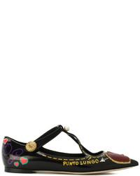 Ballerines noires Dolce & Gabbana
