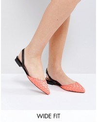 Ballerines orange Asos