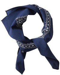 Bandana à fleurs bleu marine