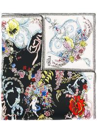 Bandana à fleurs noir Fendi