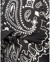 Bandana imprimé cachemire noir Asos
