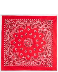 Bandana imprimé cachemire rouge