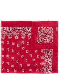 Bandana imprimé cachemire rouge Saint Laurent