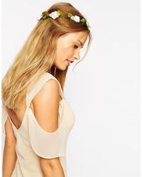 Bandeau à fleurs blanc Asos