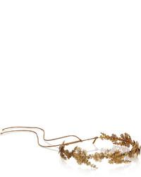 Bandeau à fleurs doré Jennifer Behr