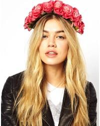 Bandeau à fleurs fuchsia Rock 'N' Rose