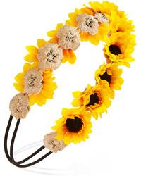 Bandeau à fleurs jaune
