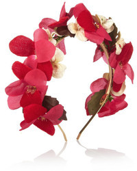Bandeau à fleurs rose Eugenia Kim