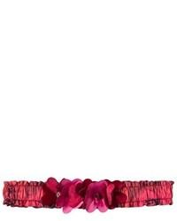 Bandeau à fleurs rouge