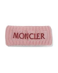 Bandeau en laine en tricot rose Moncler