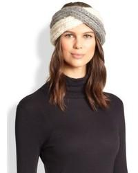Bandeau en tricot gris