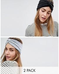 Bandeau en tricot noir ASOS DESIGN
