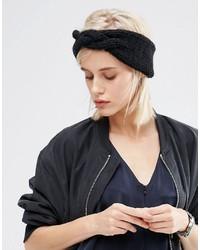 Bandeau en tricot noir Asos