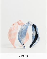 Bandeau imprimé tie-dye bleu clair Stradivarius