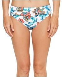 Bas de bikini à fleurs blanc
