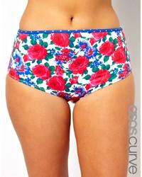 Bas de bikini à fleurs multicolore Asos Curve