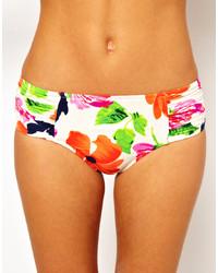 Bas de bikini à fleurs multicolore Seafolly