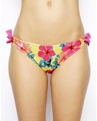 Bas de bikini à fleurs multicolore South Beach