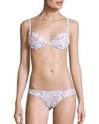 Bas de bikini à fleurs rose
