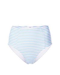 Bas de bikini à rayures horizontales bleu clair Onia