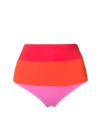 Bas de bikini à rayures horizontales multicolore Mara Hoffman