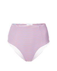 Bas de bikini à rayures horizontales rose Onia
