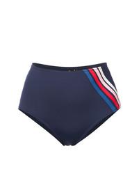Bas de bikini à rayures verticales bleu marine Morgan Lane