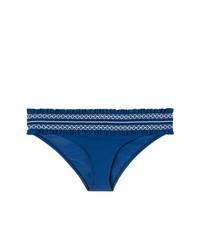 Bas de bikini à volants bleu marine Tory Burch