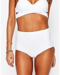 Bas de bikini blanc South Beach