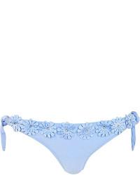 Bas de bikini bleu clair