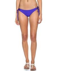 Bas de bikini bleu Shoshanna