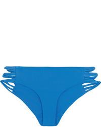 Bas de bikini découpé bleu Mikoh