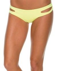 Bas de bikini découpé jaune